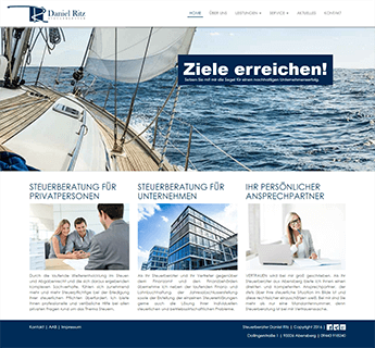 Website des Steuerberaters Daniel Ritz